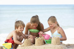 Group Of Children Enjoying Beach Holiday Stock Photography