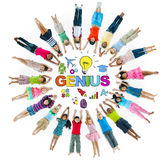 Group of Children and Genius Concept Stock Photography