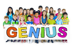 Group of Children with Genius Concept.  Stock Images