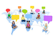 Group of Children Global Communications Royalty Free Stock Image