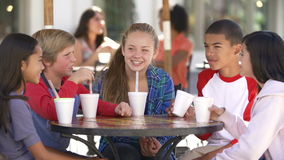 Group Of Children Hanging Out Together In Caf� stock video