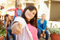 Group Of Children Hanging Out Together In Mall Royalty Free Stock Photography