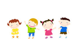 Group of children having fun Royalty Free Stock Photo