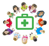 Group of Children with Healthcare and Medicine Concept Stock Photography
