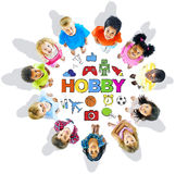 Group of Children and Hobby Concept Stock Photo