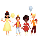 Group of children on a holiday Royalty Free Stock Images
