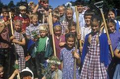 Group of children at Hutterian Brethren Church Stock Photography
