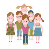 A group of children Royalty Free Stock Images