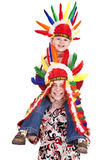 Group of children  in indian costume. Royalty Free Stock Photography