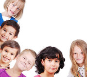 Group of children isolated, space for you Royalty Free Stock Image