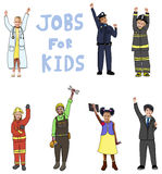 Group of Children in Jobs for Kids Concept Royalty Free Stock Photography
