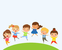 Group of children jumping Stock Image