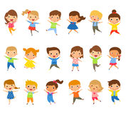 Group of children jumping Royalty Free Stock Images