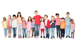 Group of children royalty free stock photography