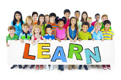 Group of Children with Learn Concept Stock Photo