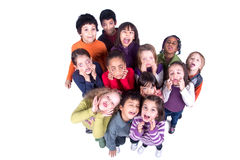 Group of children making faces Royalty Free Stock Images