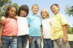 Group Of Children In Park Royalty Free Stock Image