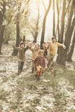 Group of children in the park. stock photo