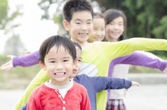 Group of children in park Stock Photos