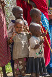 Group of children. Photography taken in Arusha, Tanzania royalty free stock photos