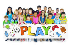 Group of Children with Play Concept.  Royalty Free Stock Image