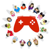 Group of Children and Play Concept Royalty Free Stock Image