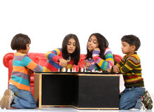 Group of children playing Royalty Free Stock Images
