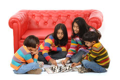 Group of children playing Royalty Free Stock Photo