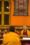 Group of children praying in Kathmandu Stock Photo
