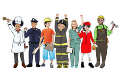 Group of Children with Professional Occupation Concept Royalty Free Stock Image