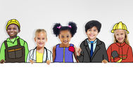 Group of Children with Professional Occupation Concepts Stock Image