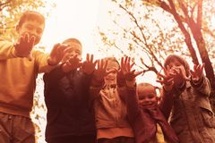 Group of children. stock photo