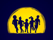 Group of Children running Royalty Free Stock Images