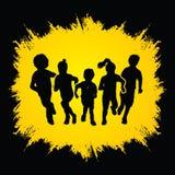 Group of Children running Stock Images
