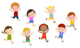 Group of children running Royalty Free Stock Photography