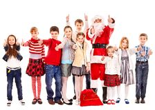 Group of children with Santa Claus. Stock Image