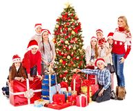 Group of children with Santa Claus. Royalty Free Stock Photography