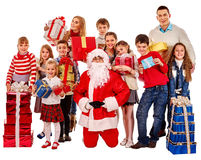 Group of children with Santa Claus Royalty Free Stock Images