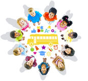 Group of Children and School Concept Royalty Free Stock Images