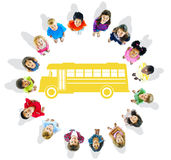 Group of Children and School Concepts Stock Photography