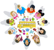 Group of Children and School Concepts Royalty Free Stock Photo
