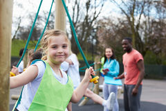 Group Of Children In School Physical Education Class Royalty Free Stock Photos