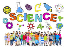 Group of Children with Science Concept Royalty Free Stock Photography