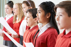 Group Of Children Singing In School Choir Royalty Free Stock Photography