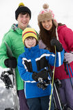 Group Of Children On Ski Holiday In Mountains Royalty Free Stock Images