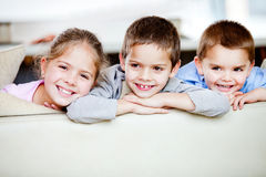 Group of children smiling Stock Photos