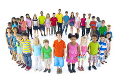 Group of Children Standing Circle Royalty Free Stock Photography
