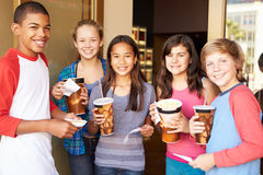 Group Of Children Standing Outside Cinema Together Stock Photography
