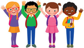 Group of children students Royalty Free Stock Photo
