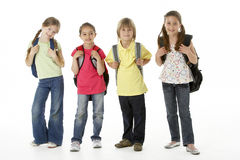 Group of children in Studio Royalty Free Stock Photos